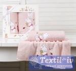 Набор детских полотенец Karna Bambino Bunny, розовый