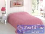 Покрывало-простыня махровая Karna Petek, грязно-розовый