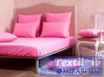 Комплект из простыни на резинке и наволочек Mirarossi Pink