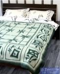 Одеяло Vladi Бамбук Шерсть всесезонное, бел/зел