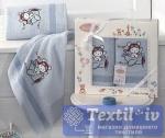 Набор детских полотенец Karna Bambino Samalot, голубой