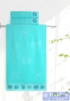 Полотенце Aquarelle Ракушки, аква