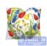 Декоративная подушка Волшебная Ночь Красные тюльпаны