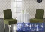 Комплект чехлов на два стула Karna Milano, зеленый