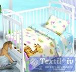 Постельное белье для новорожденных Valtery Веселый Жирафчик
