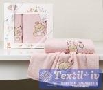 Набор детских полотенец Karna Bambino Bear, розовый