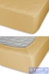Простыня на резинке Cleo 021, горчица