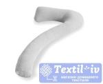 Наволочка на подушку для беременных Легкие Сны форма 7, трикотаж, меланж