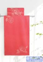 Полотенце Aquarelle Розы вид 1, розово-персиковый - коралл