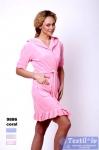 Халат домашний с капюшоном Virginia Secret 12052, розовый