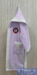 Халат детский с капюшоном Volenka Юнга, светло-сиреневый/белый