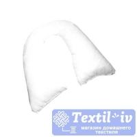 Наволочка на подушку для беременных AlViTek U280 форма U, сатин, белый