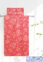 Полотенце Aquarelle Розы вид 2, розово-персиковый - коралл