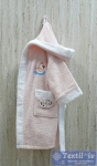 Халат детский с капюшоном Volenka Утёнок, светло-розовый/белый