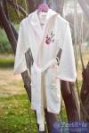 Халат детский с капюшоном Pupilla Young (девочка), кремовый