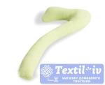 Наволочка на подушку для беременных Легкие Сны форма 7, трикотаж, салатовый