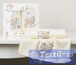 Набор детских полотенец Karna Bambino Bear, кремовый