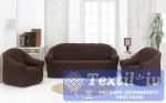 Комплект чехлов на 3-х местный диван и два кресла Karna, коричневый