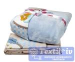 Постельное белье для новорожденных с покрывалом Hobby BamBam, голубой