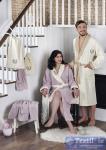 Набор халатов семейный Karna Adra, кремовый-светло-лаванда