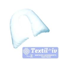 Наволочка на подушку для беременных AlViTek U280 форма U, сатин, голубой