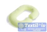 Наволочка на подушку для беременных Легкие Сны форма Rogal, трикотаж, салатовый