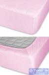 Простыня на резинке Cleo 003, светло-розовый