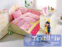Постельное белье для новорожденных Altinbasak Vak Vak, розовый