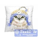 Декоративная подушка Волшебная Ночь Птичка в шапке