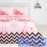 Постельное белье Этель Фламинго, розовый