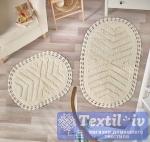 Набор ковриков для ванной Modalin Cross, кремовый