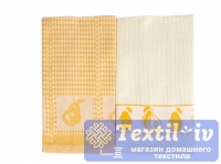 Набор кухонных полотенец Arloni Дюшес, желтый-белый