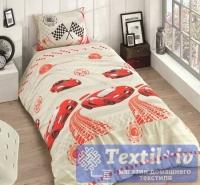 Детское постельное белье Altinbasak Racer, красный