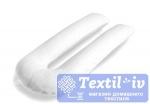 Наволочка на подушку для беременных Легкие Сны форма U, сатин, белый