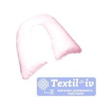 Наволочка на подушку для беременных AlViTek U280 форма U, сатин, розовый