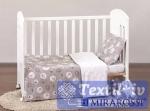 Постельное белье для новорожденных Mirarossi Amici grey