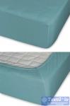 Простыня на резинке Cleo 018, голубая ель