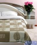 Одеяло Vladi Лист всесезонное, бел/беж