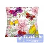 Декоративная подушка Волшебная Ночь Пестрые бабочки