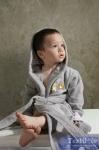 Халат детский с капюшоном Karna Teeny, серый