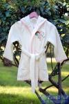 Халат детский с капюшоном Pupilla Kids (девочка), кремовый