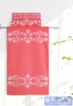 Полотенце Aquarelle Шарлиз, белый-коралловый