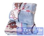 Постельное белье для новорожденных с покрывалом Hobby PonPon, голубой