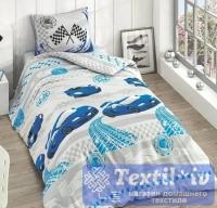 Детское постельное белье Altinbasak Racer, голубой