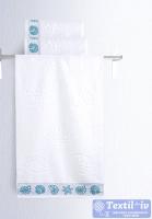 Полотенце Aquarelle Ракушки, белый