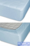 Простыня на резинке Cleo 006, голубой