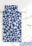 Полотенце Aquarelle Орион вид 3, белый - темно-синий