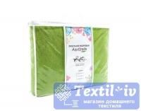Покрывало-простыня махровая Aquarelle Комфорт вид1, травяной