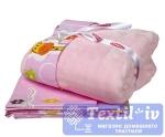 Постельное белье для новорожденных с покрывалом Hobby Puffy, розовый
