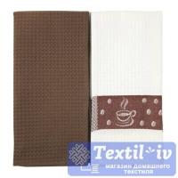 Набор кухонных полотенец Arloni Coffe, шоколад-белый